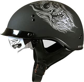 Laikeone Vintage Harley Motorcycle Half Helmet, Open Face Retro Half Helmet Cruise Chopper Biker Pilot Helmet Unisex Adult Youth Men Women, DOT Certification