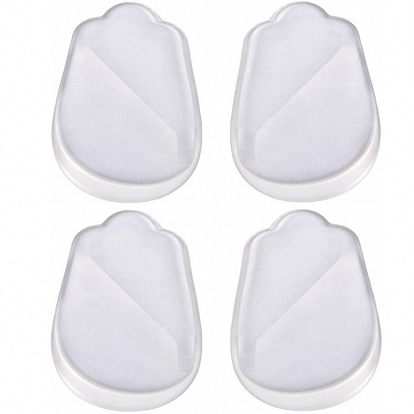 防止ペルメルコークスX脚 O脚 矯正用 かかと インソール 中敷き ジェル シリコン 透明 衝撃を吸収 男女兼用 靴に 入れて 履くだけ 4枚 2足分セット