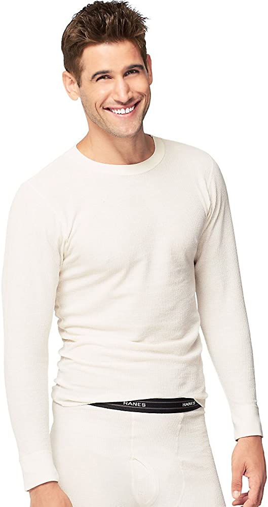 Hanes Men's X-temp Thermal Longsleeve Crew Top - Extended Sizes