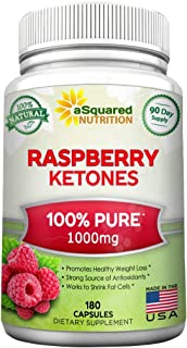 All Natural Raspberry Ketones 1000mg - 180 Capsules - Weight Loss Supplement, Max Strength Plus Appetite Suppressant Diet ...