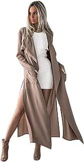 Kulywon Women Ladies Long Sleeve Tops Cardigan Waterfall Jacket Outwear Long Coat