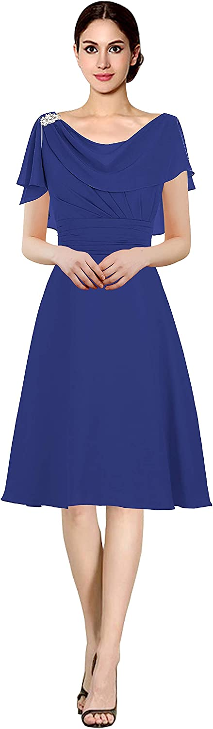 CladiyaDress Women Scoop Short Mother of The Bride Dress C086LF