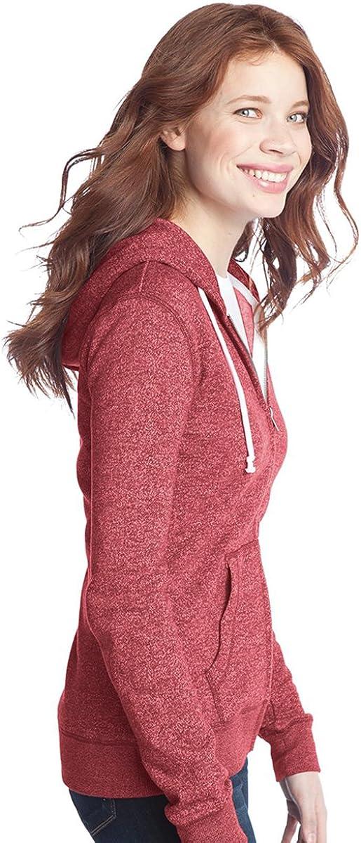 District Women's Marled Fleece Full Zip Hoodie