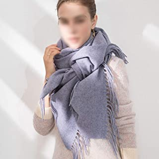 JERPOZ Scarf Wool Warm Scarf Thick Shawl Wrapped Body Long Section Large Soft Scarf 200cm × 70cm (Color : E)