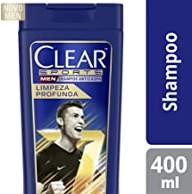 Shampoo Anticaspa Clear Men Limpeza Profunda 400 ML, Clear