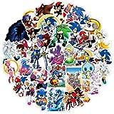 Skateboard Pegatinas 17 piezas Japón Anime Sonic impermeable Pvc papelería pegatina monopatín maleta equipaje...