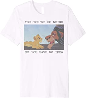 The Lion King Simba & Scar You're So Weird Meme Premium T-Shirt