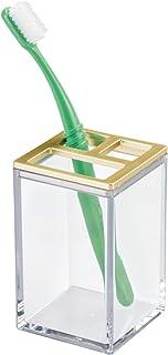 iDesign Gold InterDesign Clarity Soap Dispenser Pump for Kitchen, Bathroom Vanities-Clear/Brushed 41289