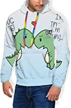 Plus Velvet Thick Sweatshirts Pullover for Mens Boys, Funny Cool Streetwear