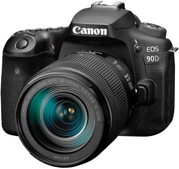 Canon DSLR In stock Camera EOS 90D with store USM 18-135 Built-in W Lens is