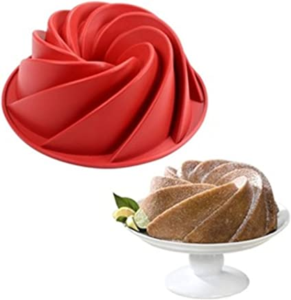 FantasyDay 9.6'' Flower Cake Mold Silicone Cake Baking Pan/Silicone Mold for Anniversary Birthday Cake,  Loaf,  Muffin,  Brownie,  Cheesecake,  Tart,  Pie,  Flan,  Bread and More #2