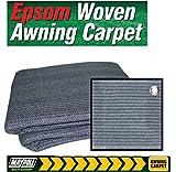 Breathable Caravan Awning Carpet Weaveatex Motorhome Tent Groundsheet Matting - Blue/Grey (2.5m x 2.5m)