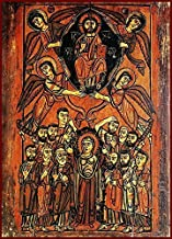 Coptic Ascension of Christ Canvas Icon Print. FREE PRIORITY SHIPPING!