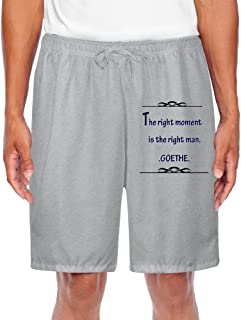 Custom Men's Short Sweat Pant The Right Moment Is The Right Man For Simple Sports