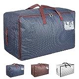 Aufbewahrungstasche für Bettdecken Tasche Verstauen Kissen Tragetasche für Bettzeug oder...