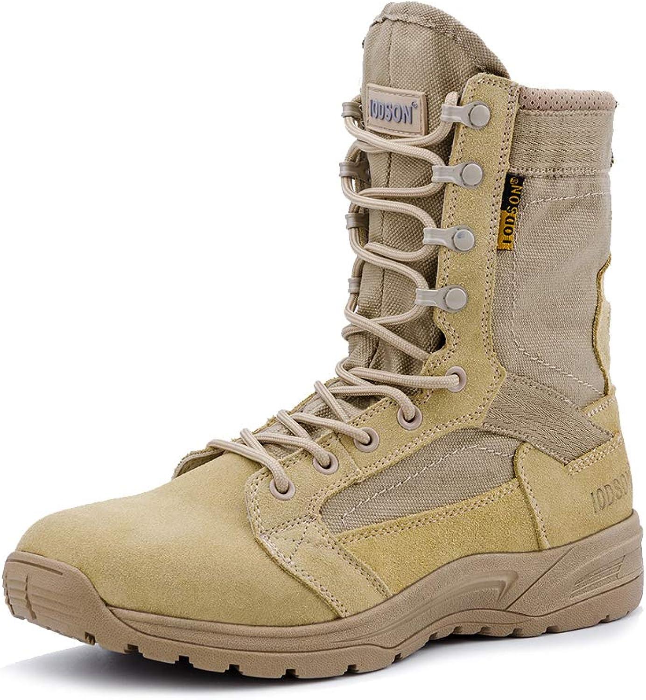 IODSON Ultra-Light Men's Army Boots Military Tactical Combat Boots Desert color shoes 831 (7.5D(M) US, Beige)
