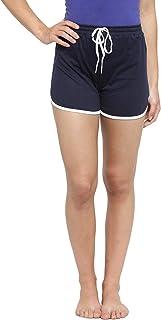 Boston Club Women N.Blue Solid Lounge Shorts
