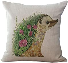 HomeTaste Tattoo Hedgehog Decorative Throw Pillow Cover 18x18 Inch Cushion Case for Bed Couch Sofa Decor