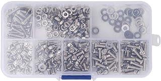 برغي برغي- غسالة صواميل M3 Cros s مجموعة متنوعة من الفولاذ المقاوم للصدأ برغي صواميل وغسالة 360 قطعة