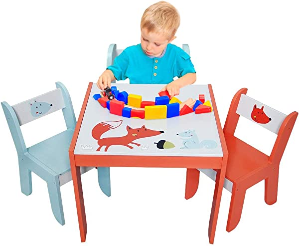 Labebe Wood Table Set For Kids 1 5 Years Activity Table Chair Set Study Table And Chair For Children Baby Wooden Table Set For Drawing Toddler Game Drafting Table Chair Infant Play Desk Table