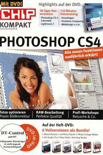 Photoshop CS 4. Inklusive DVD: Fotos optimieren (Praxis Bildkorrektur), RAW-Bearbeitung (Perfekte Qualität), Profi-Workshops (Retusche & Co.). 6 Vollversionen als Bundle auf DVD