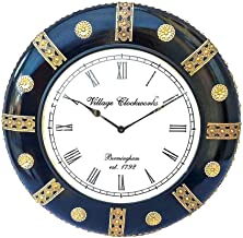 Apka Mart The Online Shop Decorative Wood & Brass Wall Watch 18 Inches for Wall Décor & Gifts