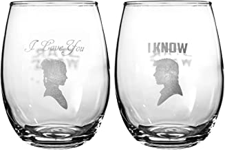 Star Wars Collectible Wine Glass Set (I Love You, I Know)