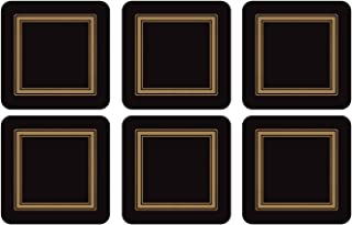 Pimpernel Classic Black Collection Coasters - Set of 6
