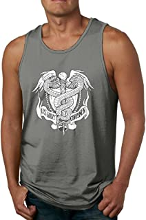 yimo Men's 3D Printed US Navy Hospital Corpsman Rating Sport Styling Cotton Sleeveless T-Shirts