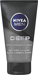NIVEA MEN DEEP Pore-Cleansing Face Scrub, Black Carbon, 75ml, BBD1010