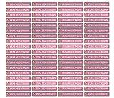 Pegatinas para lápices, bolígrafos y otros nombres, 49 x 7,5 mm, 72 unidades, para niños y adultos, escuela y guardería, 37 fondos a elegir, color 21 niñas escolares. 72 Stück