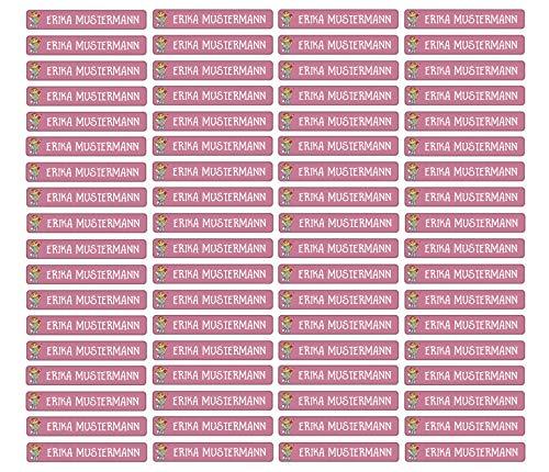 Stifteaufkleber für Bleistifte, Kugelschreiber & weitere Namensaufkleber - Aufkleber 49x7,5mm | 72 Stück Kinder & Erwachsene Schule & Kindergarten 37 Hintergründe in Auswahl (21 Schulmädchen)