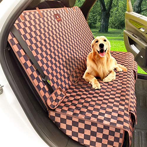 Manificent Back Seat Dog Cover for Car, 900D Waterproof Dog Car Seat Cover Protector, Pet Seat Cover Bench Seat Cover, Mud & Fur with Organize Bag Universal Size Fits for Cars, Trucks & SUVs