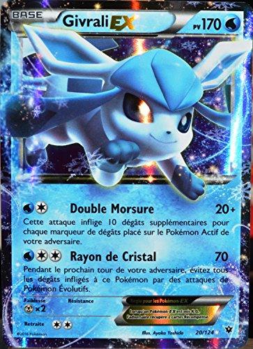 carte Pokémon 20/124 Givrali Ex 170 PV - ULTRA RARE XY - Impact des Destins