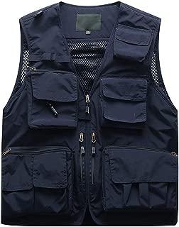Men Tops Photography Outdoors Multi-Pocket Sleeveless Jackets Vest Waistcoat