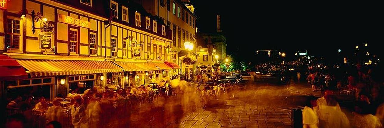 ファランクスキャップ参照壁360ピール&スティック壁壁画: Cafe on road side Quebec City 48 in x 16 in 25737_911