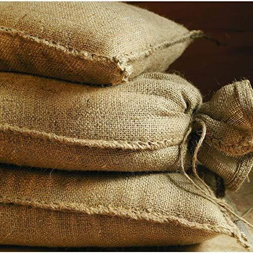 Sacos de arena de yute 20 kg (30 x 60 cm), 10 unidades