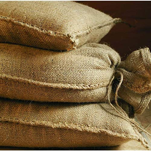 NOOR Sacchi di Sabbia in Iuta, 20 kg (30 x 60 cm), Confezione da 10 Pezzi