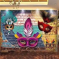 モダンクリエイティブ壁紙3Dカラフルな落書きレンガ壁マスクウエディング背景壁の装飾レストランカフェアートレトロ壁紙