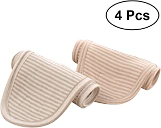 Healifty Kids Belly Band 4pcs Baby Belly Band Infant Umbilical Belt Newborn Navel Hernia Truss Belt(Brown and Green)
