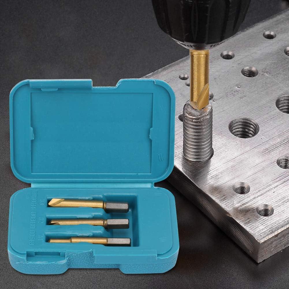 Juego de extractor de tornillos, 3 piezas de acero de alta velocidad profesional Extractor de tornillos rotos Extractor de tornillos rotos para quitar tornillos fácilmente dañados
