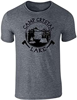 Camp Crystal Lake Counselor T Shirt Horror Costume Graphic Tee T-Shirt for Men