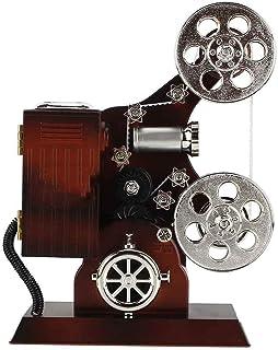 AUNMAS Bo?Te à Musique Antique Vintage Projecteur de Film Bijoux bo?tes à Musique Cas de Stockage de Bijoux avec Miroir de...