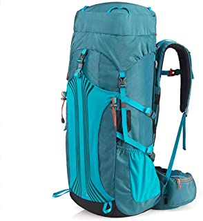 Outdoor Mountaineering Bag Bicycle Backpack Hiking Camping Backpack Multi-Function Travel Backpack Large Capacity Lightweight Carrying Annacboy (Color : Blue)
