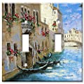 Art Plates 2-Gang Toggle OVERSIZED Switch Plate/OVER SIZE Wall Plate - Italian River