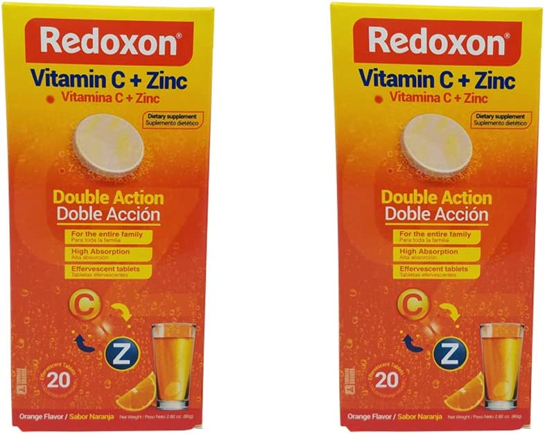 Redoxon Vitamin C Branded goods with Max 72% OFF Zinc. Dietary He Supplement. Effervescent