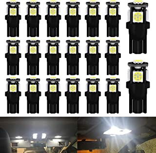 Qoope 194 LED Bulbs, Super Bright White T10 LED Bulb 5050 Chipset 5SMD, T10 2825 168 LED Bulbs Replacement for 12V truck C...