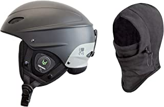 Demon Phantom Helmet with Brainteaser Audio and Free Balaclava (Black, Medium)