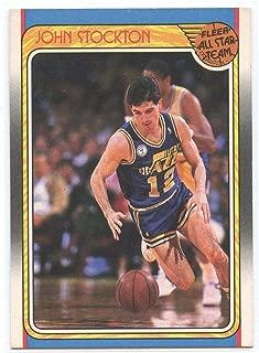 1988-89 Fleer All Star #127 John Stockton Utah Jazz Rookie Card - Mint Condition Ships in New Holder