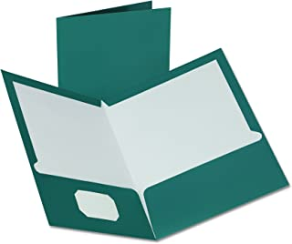 Oxford Metallic Two-Pocket Folders, Teal, Letter Size, 25 per Box (5049561)